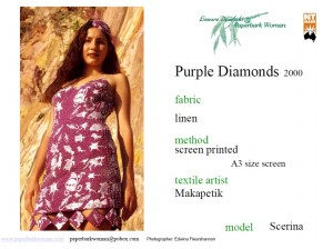 11 Purple Diamonds front details