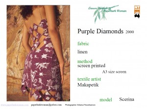 12 Purple diamonds back details