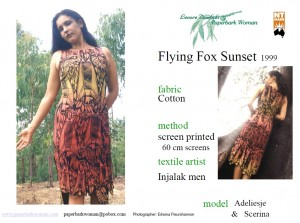16 Flying fox sunset details
