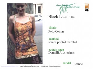 18 Black lace details