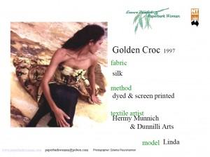2 Golden Croc details