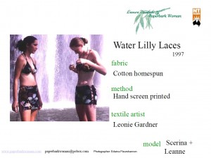 24 Water Lily Laces tops, shorts, skirt details