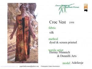 3 Croc vest details