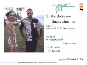 30 Snake dress and shirt details