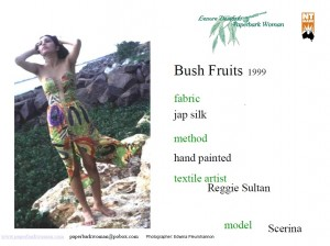 8 Bush fruits dress, shorts details